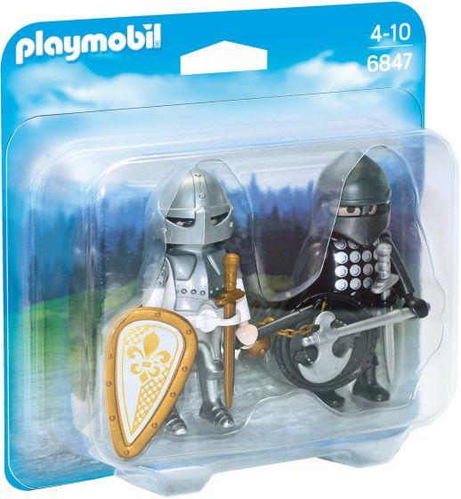 Playmobil-Duopack-zwarte-en-zilveren-ridder---6847