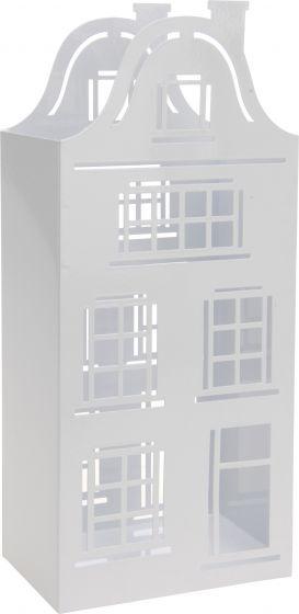 Theelichthouder-huis-13x32cm-wit