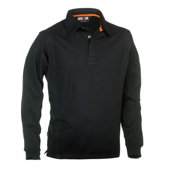 Herock-Troja-Polo-Long-Sleeves-Zwart-XXL