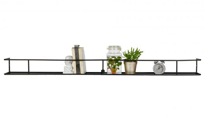Wandplank-Myrthe-XXL-zwart-160-cm