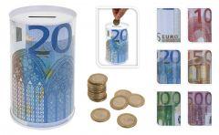 Muntgeld-spaarpot-Euro