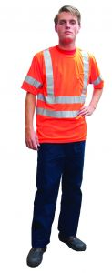 Fluo-t-shirt-korte-mouw-oranje-L