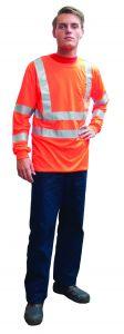 Fluo-t-shirt-lange-mouw-oranje-L
