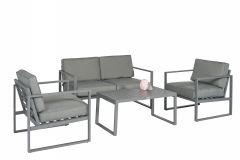 """""""Dubai""""-Loungeset-Tuinset-Aluminium---Grijs---Pure-Garden-&-Living"""