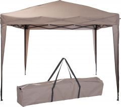 Pure-Garden-&-Living-easy-up-partytent-3x3-meter-bruin