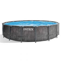 Intex-Prism-Frame-Greywood-Premium-Pool---Ø-457-x-122-cm-(set)