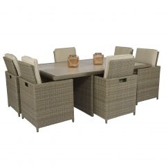 "Dining-loungeset-""Cube-XL""-6-personen-wicker-nature---Pure-Garden-&-Living"