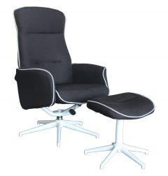 Relaxfauteuil-met-voetenbank-zwart