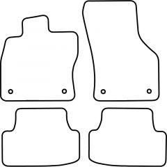 Automatten-Volkswagen-Golf-VII-3/5-deurs-+-Variant-2012--(incl.-E-Golf)-(Velours)