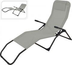 Siesta-Ligstoel-Grijs/Zwart---Textileen