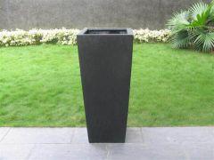 Terrazzo---Vaas-Vierkant-zwart-32x32