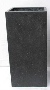 Terrazzo---Vierkant-zwart-45x45x100