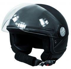Jethelm zwart XL (61/62 cm)