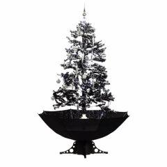 Sneeuwende Kerstboom Zwart - 170 cm