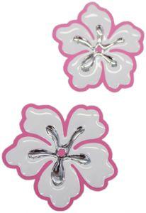 Hibiscus-3d-chroom-sticker
