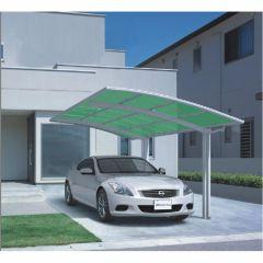 Carport-aluminium-Wit/groen