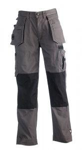Herock Hercules multi-pocket werkbroek met afritsbare spijkerzakken grijs/zwart 46