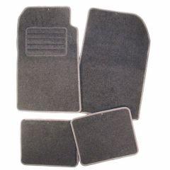 Velours matten semi-pasvorm grijs