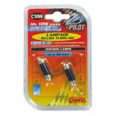 Verlichting 11x35mm C10W Blue-Xe DYED 12V 15W