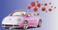 Rode rozen sticker 17x49