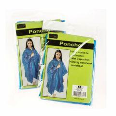 Poncho blauw luxe