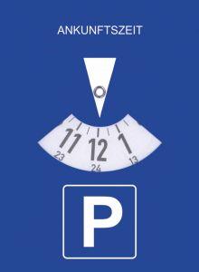 Parkeerschijf statisch