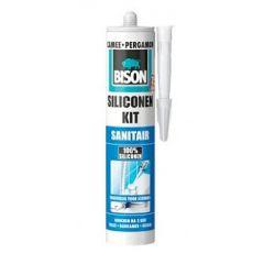 Bison Siliconenkit Sanitair wit 310ml