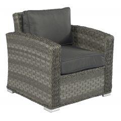 "Wicker loungestoel ""Cairo"" - Elegant donkergrijs"