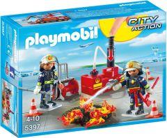 Playmobil-Brandweermannen-met-blusmateriaal---5397