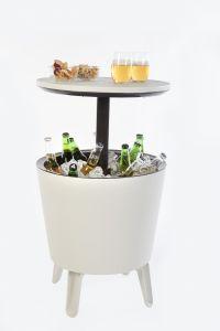 Keter-Coolbar,-bijzettafel-en-koelbox-in-1---Wit-met-LED