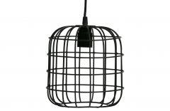 Woood-hanglamp-Lotus-metaal-zwart