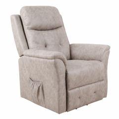 Relaxfauteuil Sta op stoel Dover Beige
