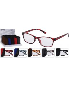 Leesbril in koker 5 designs