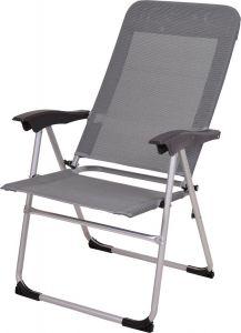 Vouwstoel polyester grijs
