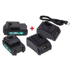 Powerplus-2x-Accu-1.5Ah-+-2x-Lader-18V