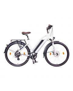 NCM Elektrische Trekking bike Milano 28'' Wit
