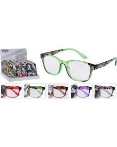 Leesbril in pouch 5 kleuren