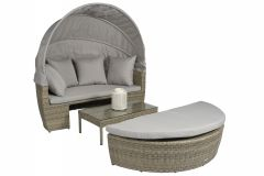 "Loungebed-Wicker-Eiland-""Santorini""---NaturelTaupe---Pure-Garden-&-Living"