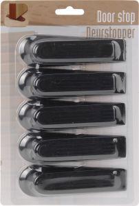 Deurstoppers-set-van-5-12CM-zwart