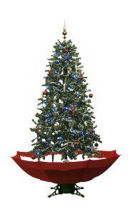 Sneeuwende Kerstboom Rood - 170 cm