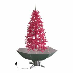 Sneeuwende Kerstboom Roze 180cm
