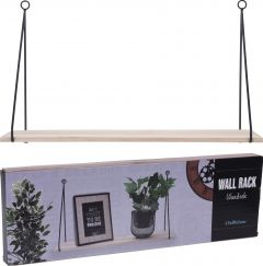 Plank hout met metaal hanger