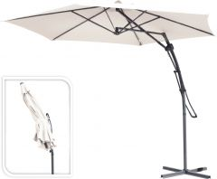 Hangparasol-Belize-push-up-Ø380cm-Crème