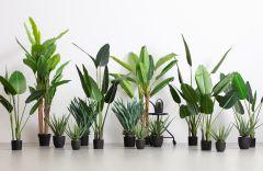 Woood-Aloë-Vera-Kunstplant-groen