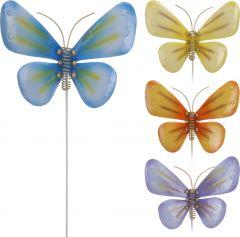 Tuinprikker-metalen-vlinder