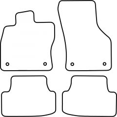 Automatten Volkswagen Golf VII 3/5-deurs + Variant 2012- (incl. E-Golf) (Velours)