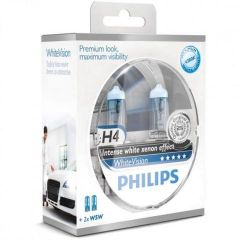 Philips-Whitevision-H4-W5W-set