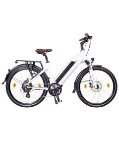 "NCM Elektrische Trekking bike Milano 26"" Wit"