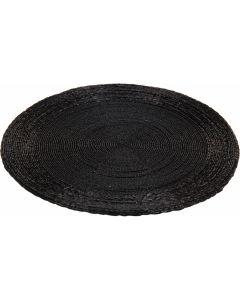 Placemat rond zwart 30 cm