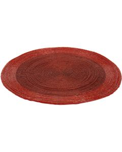 Placemat rood 30 cm